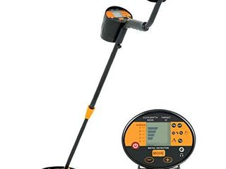 SUNCOO Adjustable Metal Detector High Accuracy Treasure Finder for Kids   Adults Waterproof Search Coil lCD Display  Pro Metal Finder with Shovel   Headphone Orange