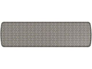 GelPro Elite Premier Anti Fatigue Kitchen Comfort Floor Mat  20x72  Damask Dove Grey Stain Resistant Surface with therapeutic gel and energy return foam for health   wellness