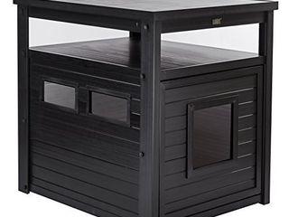 New Age Pet ECOFlEX Jumbo litter Box Cover End Table   Espresso  EHlB802 02
