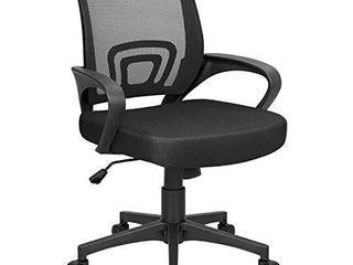 Homall Office Mid Back Computer Ergonomic Desk Chair  Black