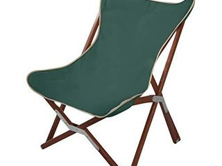 BYER OF MAINE  Butterfly Chair  Easy to Fold and Carry  Hardwood  Sling Chair  Wood Beach Chair  Perfect for Camping  Matching Furniture in The Pangean line  34  H x 23  W  27  D  Single  Green