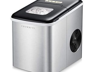 Crownful Ice Maker Machine for Countertop  9 Ice Cubes Ready in 8 10 Minutes  26lbs Bullet Ice Cubes in 24H  Electric Ice Maker with Scoop and Basket