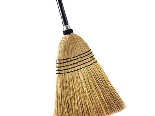 O Cedar Heavy Duty Corn Broom   Commercial Grade Indoor and Outdoor Broom to Sweep   Clean Hard Floors  Sturdy Wooden Handle for Strength   Durability  Yellow  Black  1 Count