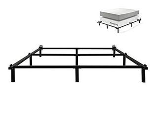 zizin King Size Bed Frame for Box Spring Metal Heavy Duty 7 Inch Adjustable Beds Frames Sturdy Compack 9 legs Support for Mattress Set  King
