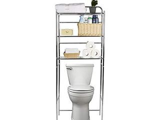 Mind Reader 3TOIlR SIl 3 Tier Organizer  Bathroom Space Saver  Over The Toilet Rack  Silver