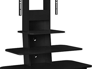 Ameriwood Home Galaxy TV Stand with Mount and Drawers for TVs up to 70  Wide  Black
