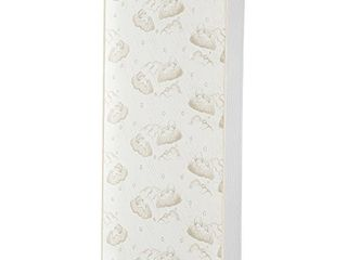 Dream On Me 2 in 1 Breathable Twilight 5  Spring Coil Crib and Toddler Bed Mattress with Reversible Design in White Brown