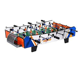 Rally and Roar Foosball Tabletop Games and Accessories  Mini Size   Fun  Portable  Foosball Soccer Tabletops Soccer   Recreational Hand Soccer for Game Rooms  Arcades  Bars  for Adults  Family Night