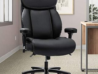REFICCER Big   Tall 400lb Office Chair  Ergonomic Design Heavy Duty Metal Base Thicken Padding High Back Executive Desk Computer Task Chair
