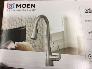 Moen Georgene 87912srs Stainless 1 handle Pulldown Kitchen Faucet