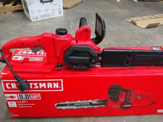 Craftsman 8 0 Amp   14 in  Corded Electric Chainsaw CMECS614