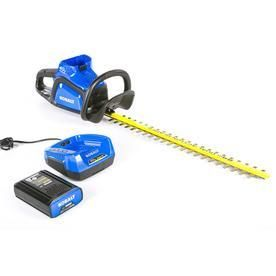 Kobalt 40 volt 24 in Dual Cordless Hedge Trimmer  Battery Included