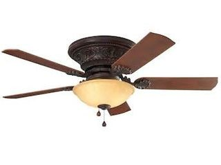 Harbor Breeze lynstead Specialty Bronze 52 in lED Indoor Flush mount Ceiling Fan  5 Blade