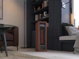 Greentouch 1500 Watt Infrared Tower Indoor Electric Space Heater with Thermostat and Remote Included