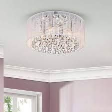 jojospring Silver Orchid Taylor 4 light Chrome and White Crystal Chandelier  Retail 107 49