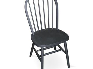 37  Windsor High Spindleback Chair with Plain legs Black   International Concepts 1only