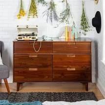 Carson Carrington Gammelstaden Mid century 6 drawer Dresser  Retail 292 99