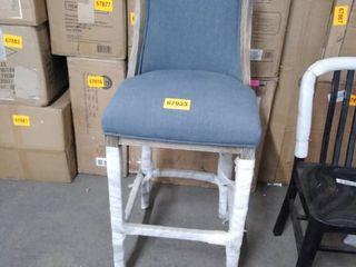blue fabric bar chair