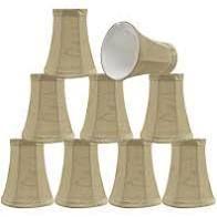 aspen creative bell chandelier clip on lamp shades 9pcs