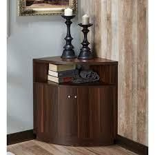 furniture of America porch and den wilson 3shelf corner buffet dark walnut