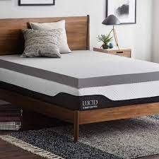 queen 4in ventilated memory foam topper bamboo charcoal