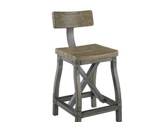lancaster counter stool with back ink and ivy Oak Silver  Retail 179 99 1only