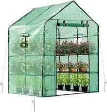 Outdoor Plant Gardening Greenhouse with Shelves and Window  Retail 159 49 complete