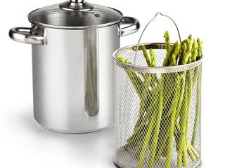 Cook N Home 4 Quart Vegetable Steamer Pot  Stainless Steel