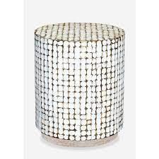 new hampton round end table white wash white patina