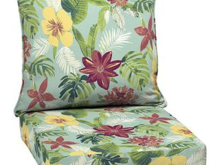 Arden Selections Elea Tropical Outdoor Deep Seat Set   46 5 in l x 25 in W x 6 5 in H