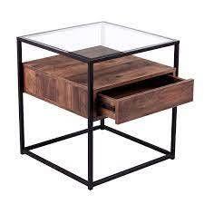 sei Carbon loft Opsten Industrial Brown Wood End Table  Retail 135 99