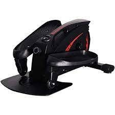 mini pedal exerciser cycle machine desk elliptical black and red