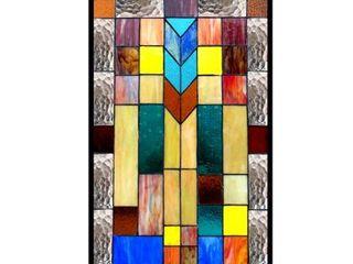 CHlOE lighting TATE Tiffany glass Mosaic Design Window Panel 16x26