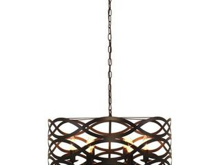 CHlOE lighting CAPEllA Transitional 6 light Oil Rubbed Bronze Ceiling Pendant 24  Wide