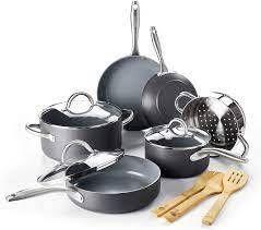 green pan lima ceramic non stick 12pc cookware new