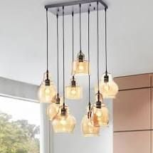 Galeras 8 light Cluster Bell Pendant  Retail 213 99 black