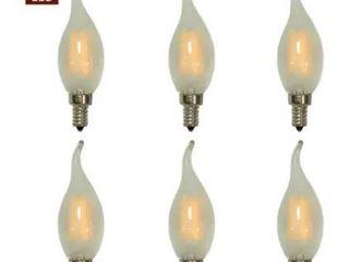 Total Designs Decorative Vintage Frosted 4W lED Bulb Set of 6