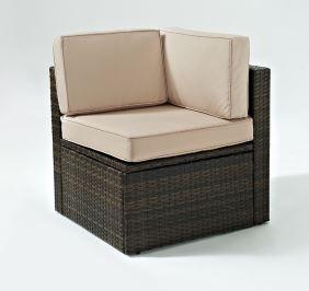 Corner Outdoor Chair  Brown