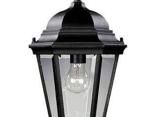 Progress lighting Cast Hanging lantern with Clear  Beveled Glass  Textured Black