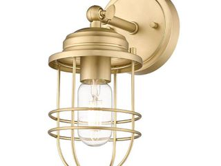 Golden lighting Seaport 4 63 in  Brushed Champagne Bronze Sconce