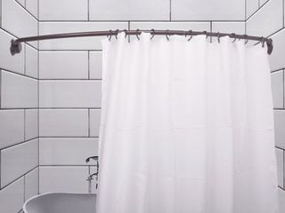 Utopia Alley Rustproof 72  Adjustable Curved Fixed Shower Curtain Rod