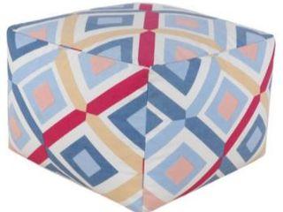 Multi Color Decorative Pouf Pattern