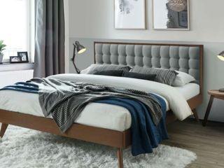 Hughes Queen Mid Century Platform Bed  Retail 743 49