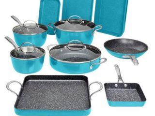 Curtis Stone 14 piece DuraPan Nonstick All Purpose Cookware Set Model  Retail 151 99