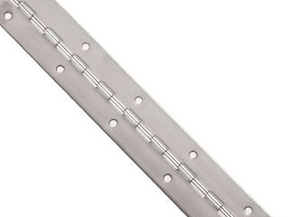 Stocker Hinge 3 0636 1168 Stocker Hinge Stainless Steel 304 Continuous Hinge with Holes   Pack of 1