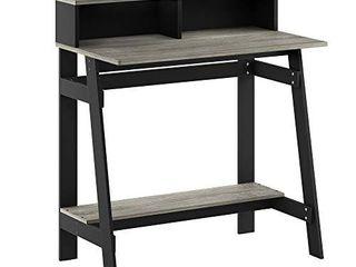 Furinno Simplistic A Frame Computer Desk  Black French Oak Grey