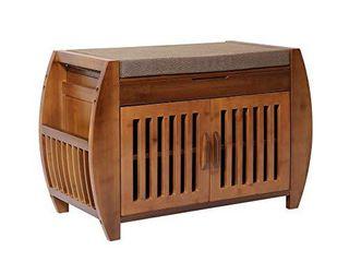 Bamboo Shoe Rack  amp  Shoe Bench  amp  Shoe Cabinet Storage Benches  Entryway Storage Organizer