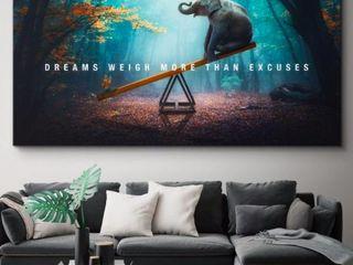 Inspirational Wall Art Elephant 40x30