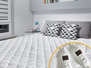 MAKATZ Heated Mattress Pad Queen Size  8 21 Inch Deep Pocket Quilted Electric Mattress Pad with 8 Heat Setting Controllers