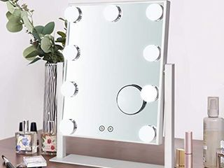 BSlE Hollywood Vanity Mirror lighted Makeup Mirror Tabletop Mirror